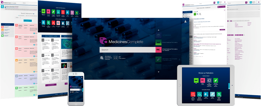 MedicinesComplete on differrent devices